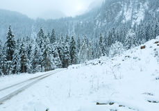 Winter mountain landscape  (Austria, Tirol). Royalty Free Stock Photos
