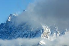 Winter mountain landscape (Austria, Tiroler Alpen). Royalty Free Stock Images