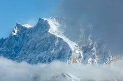 Winter mountain landscape (Austria, Tiroler Alpen). Royalty Free Stock Photography