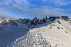 Winter mountain landscape in Austria Royalty Free Stock Photography