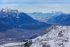Winter mountain landscape. Innsbruck, Austria Royalty Free Stock Photo