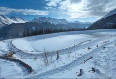 Winter mountain landscape. Kappl ski resort, Austria. Royalty Free Stock Images