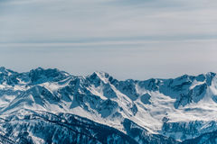 Winter mountain landscape. Krasnaya Polyana, Sochi, Russia Royalty Free Stock Image