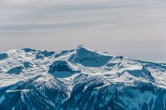 Winter mountain landscape. Krasnaya Polyana, Sochi, Russia Stock Photography