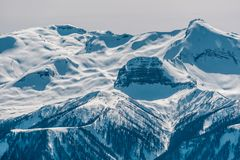 Winter mountain landscape. Krasnaya Polyana, Sochi, Russia Stock Images