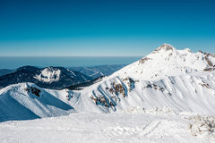 Winter mountain landscape. Krasnaya Polyana, Sochi, Russia Stock Photos