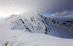 Winter mountain landscape - Low Tatras Royalty Free Stock Image