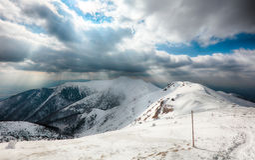 Winter mountain landscape - Mala Fatra Stock Images