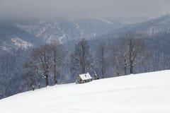 Winter mountain landscape. Winter landscape at Rasinari - Paltinis, Sibiu Stock Images