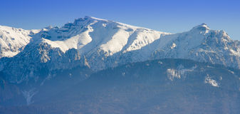 Winter mountain landscape in Romania Royalty Free Stock Image