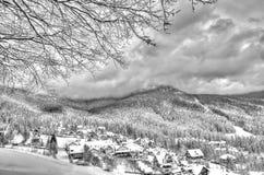 Winter mountain landscape in Romania