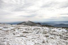 Winter mountain landscape scene. Snowed mountain landscape Stock Image