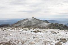 Winter mountain landscape scene. Snowed mountain landscape Stock Images