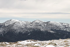 Winter mountain landscape scene. Snowed mountain landscape Stock Photography