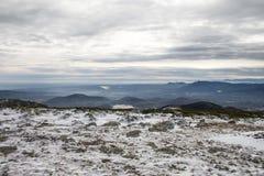 Winter mountain landscape scene. Snowed mountain landscape Royalty Free Stock Photo