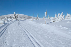 Winter mountain landscape scenery Stock Image