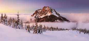 Winter mountain landscape - Slovakia Royalty Free Stock Photos