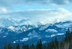 Winter mountain landscape (Slovakia, High Tatras). Royalty Free Stock Images