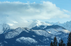 Winter mountain landscape (Slovakia, High Tatras). Stock Photos