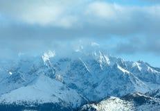 Winter mountain landscape (Slovakia, High Tatras). stock photos