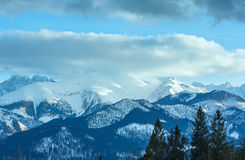 Winter mountain landscape (Slovakia, High Tatras). Royalty Free Stock Photos