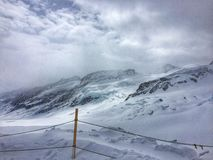 Winter mountain landscape Stock Photos