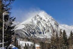 Winter mountain landscape, Tatry, Slovakia.  royalty free stock photo