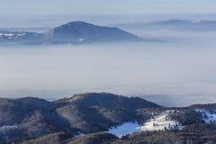 Winter mountain landscape, Transylvania, Romania stock image