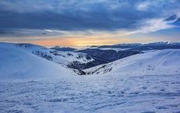 Winter mountain landscape.Ukraine, Carpathians. Winter mountain landscape. Carpathians mountains Stock Image