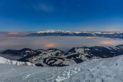 Winter mountain in night Royalty Free Stock Images