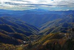 Winter mountain panorama Royalty Free Stock Photos