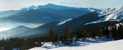 Winter mountain panorama Stock Photography