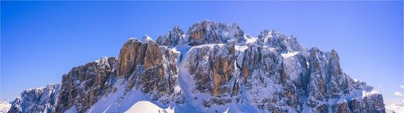 Mountain panorama. Winter mountain panorama, amazing weather in dolomites Stock Photography