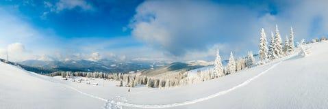 Winter mountain panorama landscape. Royalty Free Stock Photos