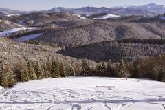 Winter mountain pasture Royalty Free Stock Photo