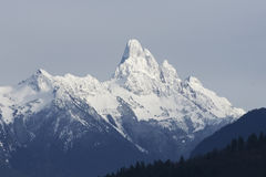 Winter Mountain Peak Canada. Mount Sleese viewed from Chilliwack, BC Stock Photos