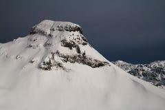 Winter mountain peak Stock Images