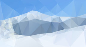 Winter mountain peaks and range vector background. Winter mountain peaks and range. Creative vector background for winter sports or Christmas banner Stock Image