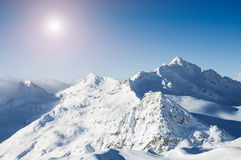 Winter mountain peaks Royalty Free Stock Images
