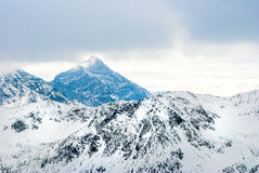 Winter Mountain Peaks Stock Image