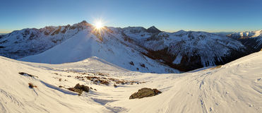 Winter mountain in Poland, Kasprowy Stock Images