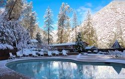 Winter Mountain Pool Stock Photo