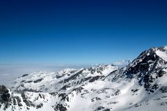 Winter mountain range Royalty Free Stock Photography