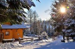 Winter mountain resort Stock Images
