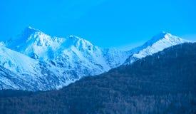 Winter on mountain ridge Stock Photography