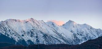 Winter on mountain ridge Royalty Free Stock Image
