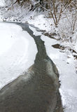 Winter mountain river Stock Photo