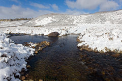 Winter mountain river Royalty Free Stock Photography