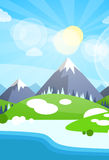 Winter Mountain River Landscape Background Stock Photography