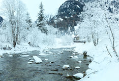 Winter mountain river Stock Images